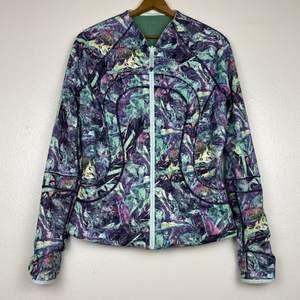 Jackets & Blazers - Lululemon Reversible Print Green Mesh Jacket